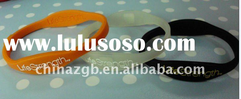 2011 hot selling and cheapest debossed silicone bracelet,silicone wristband