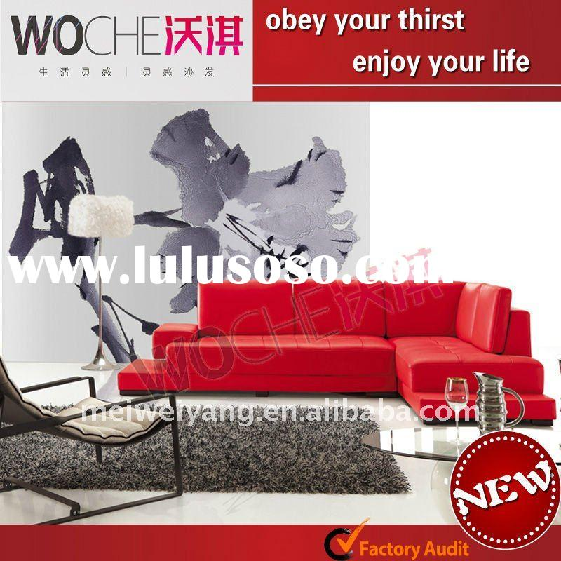 2011 modern leather funiture sofa set(WQ6825)