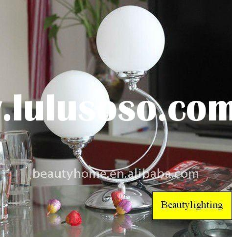 2012 Crescent Bouble Ball White Glass Table lamp (T1041)