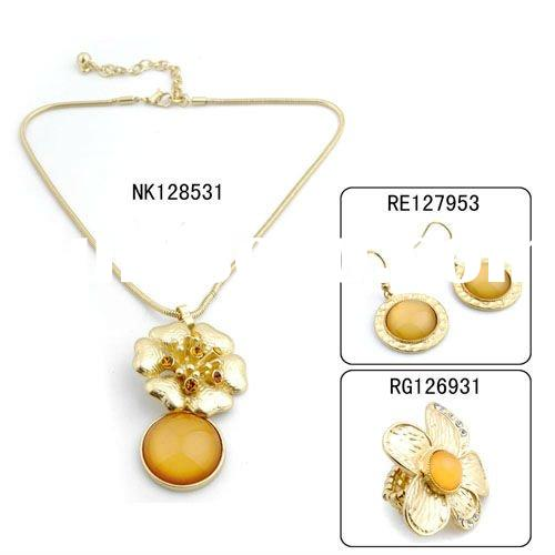 2012 Latest gold plated imitation jewelry set