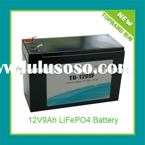 2012 New Arrival 12V 9Ah Solar Lighting Battery Pack Factory with BMS Protection