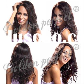 2012 New arrival Glueless Human Hair Wig for black women, Full lace wig,Lace front wig,Synthetic wig