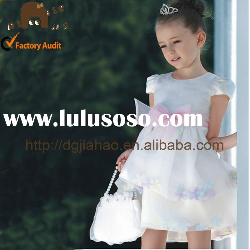 2012 bule prom baby fashion dress clothes for children