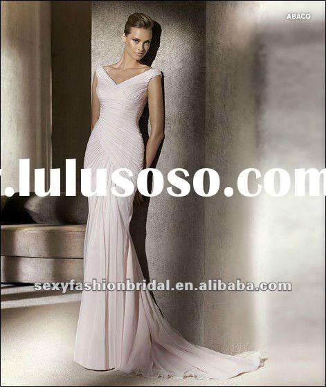 2012 off the shoulder twisted ruffle accented sheath pink off the shoulder wedding dress
