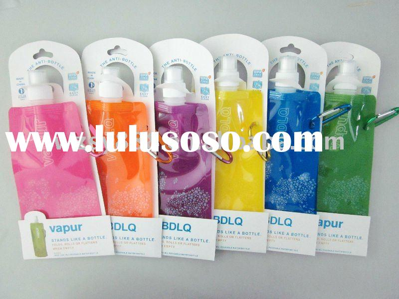 2012hot-selling reusable and foldable water bottles bpa free