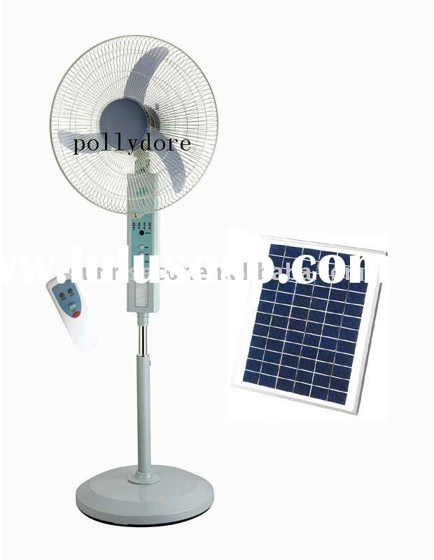 "20"" remote control ,stand oscillating rechargeable fan with LED light"