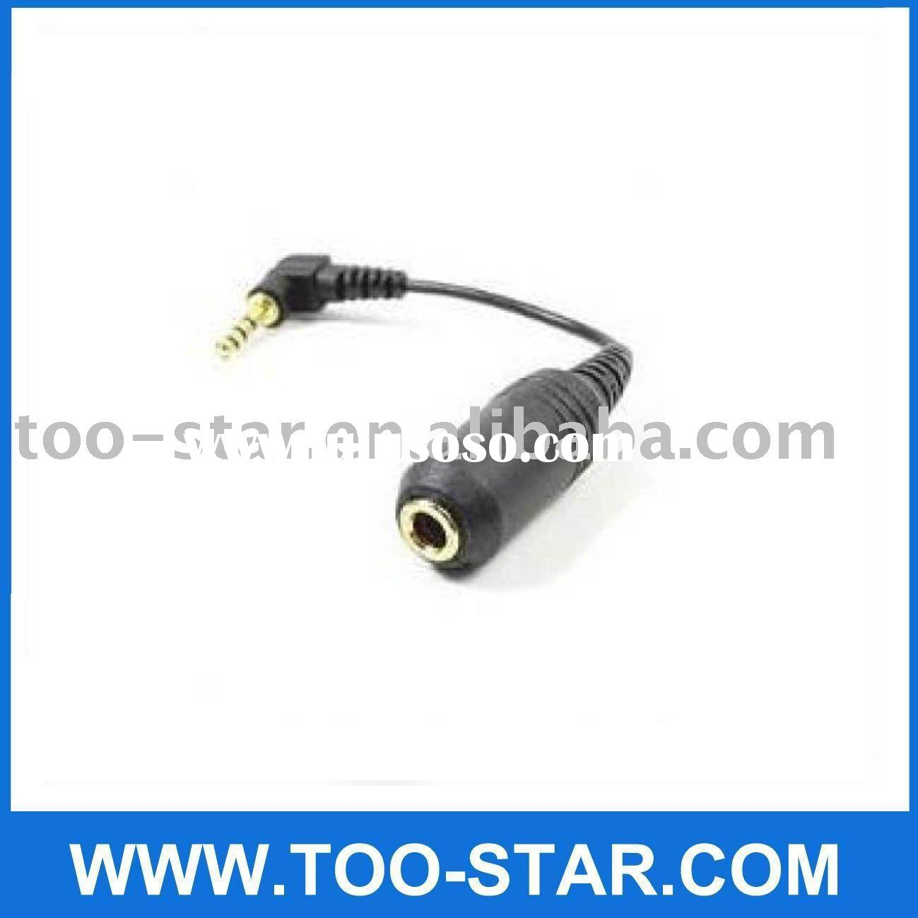 2.5 male to 3.5 female Audio Adapter