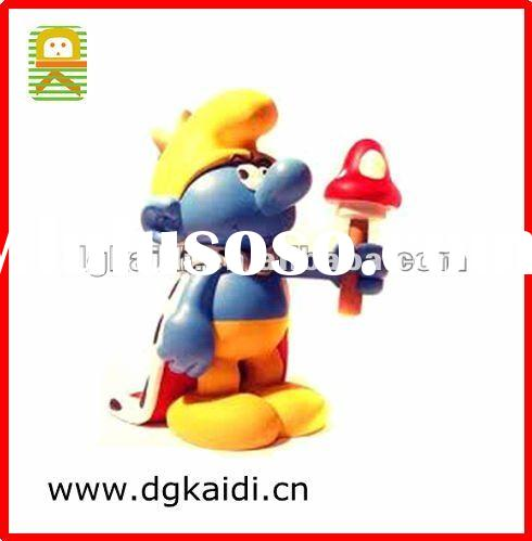 3D Smurfs figure 2012 hot sale plastic toy