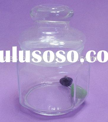 400ml high transparency glass jars with lids