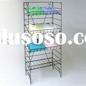 4 Tier Adjustable Metal Wire T-Shirt Display Rack Stand