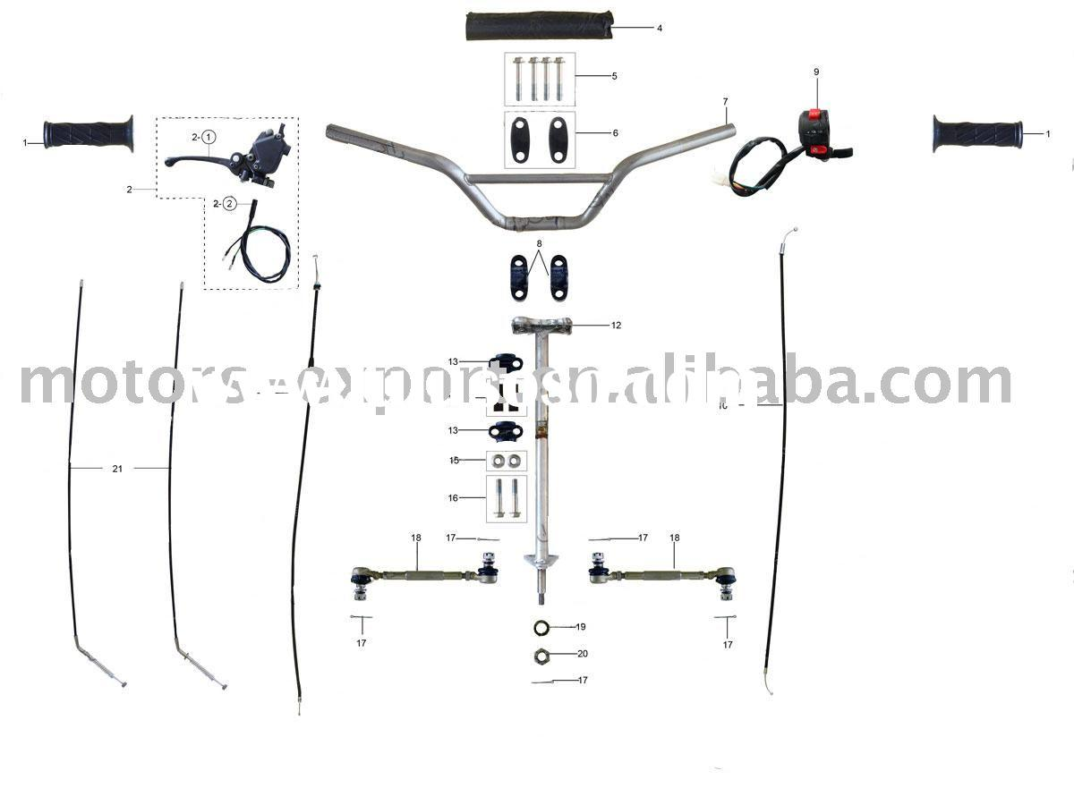 110 atv body parts diagram