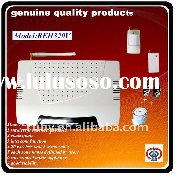 868MHz intelligent wireless gsm multi zone safe home alarm