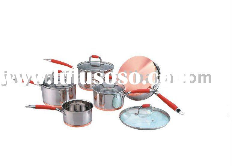 9pcs Straight Shape Stainless Steel Cookware Set (WGCW-S025)