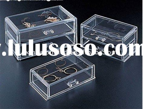 Acrylic Jewelry Box with two Drawers or Acrylic Jewelry Organizer