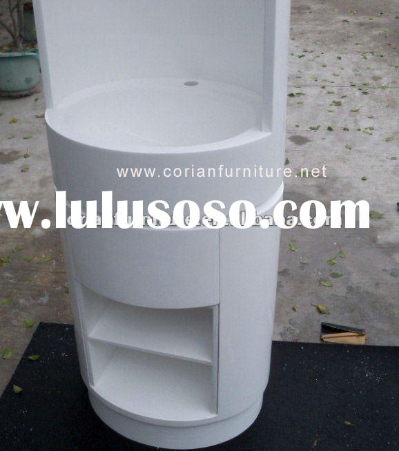 Acrylic solid surface Corian made hotel standing basin LS-044
