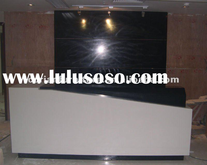 Acrylic solid surface office reception table RT-2042