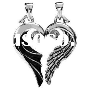 Angel and Devil Wings Pendant 316L stainless steel pendant