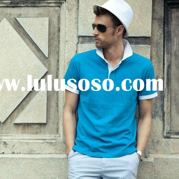 Anti-pilling US polo shirts unique embroidery for men apparel