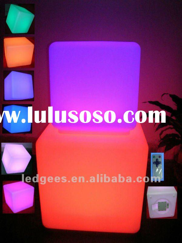 Bar furniture&led cube light&led chairs outdoor