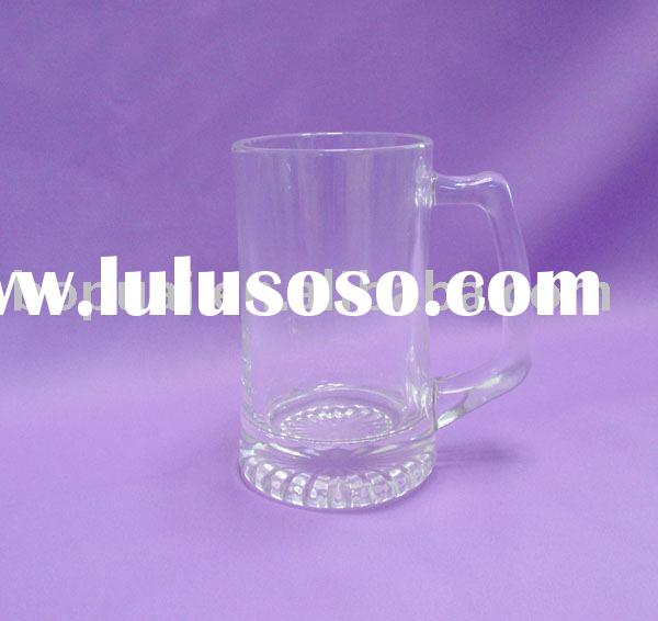 Beer glass mug /handle beer mug /500ml beer glass