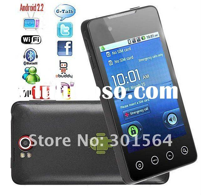 Capacitive Touch Unlocked Quadband Mobile phone Google Android 2.2 Cell Phone