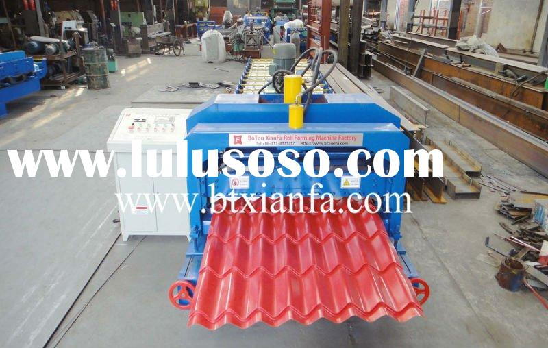 Color Steel Roof Sheet Glazed Tile Roll Forming Machine