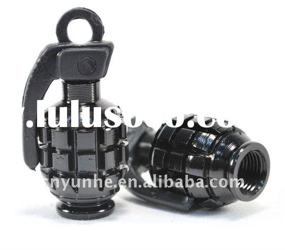 Cool Grenade Shaped Car Auto Tire Valve Caps Cover Tyre wheel Valve stems caps