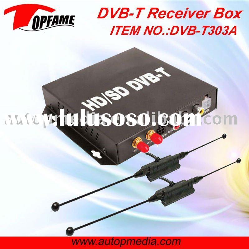 DVB-T303A Car HD/SD DVB-T TV receiver box with dual antenna HD MPEG4 1080P