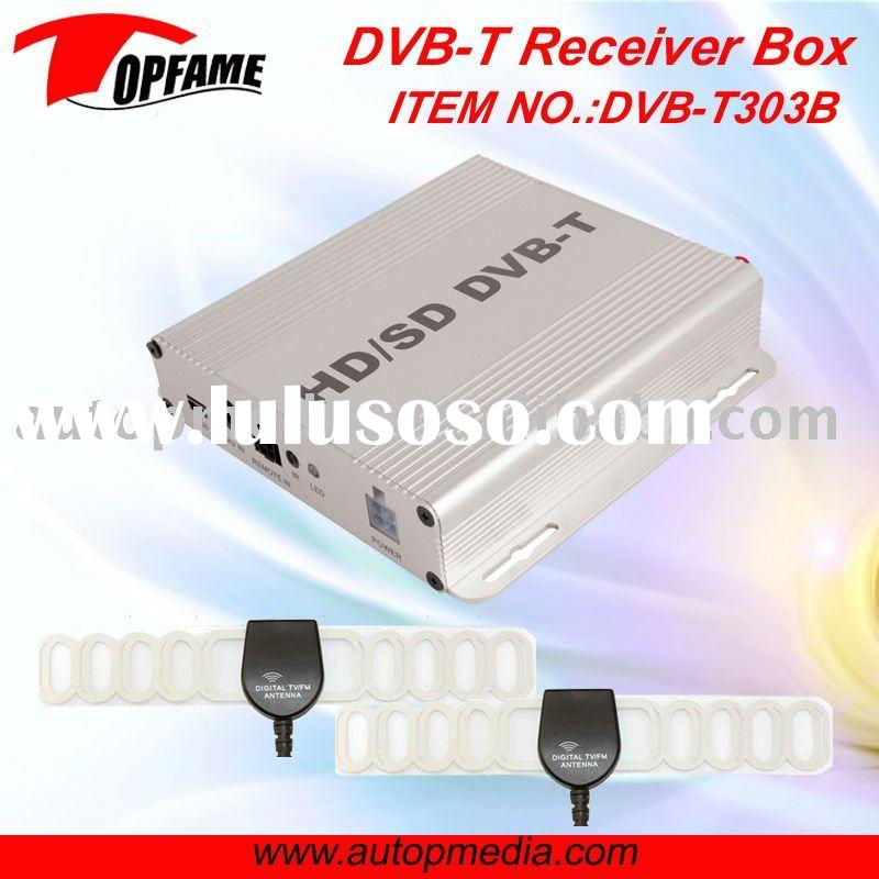DVB-T303B Car DVB-T TV receiver box with dual antenna HD MPEG4 1080P