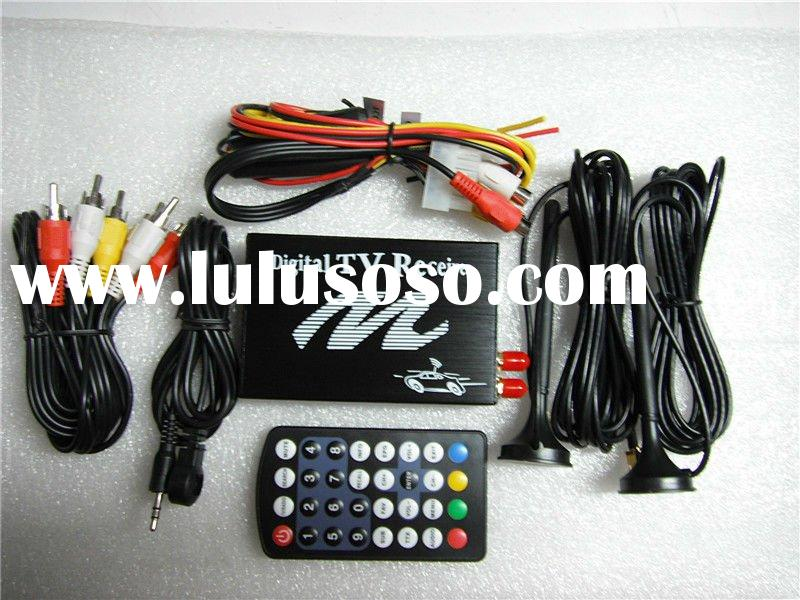 DVB-T Dual Tuner Digital Car TV Receiver Box w/ Antenna