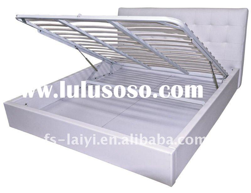 E210 half open lift-up modern gas-powered storage bed