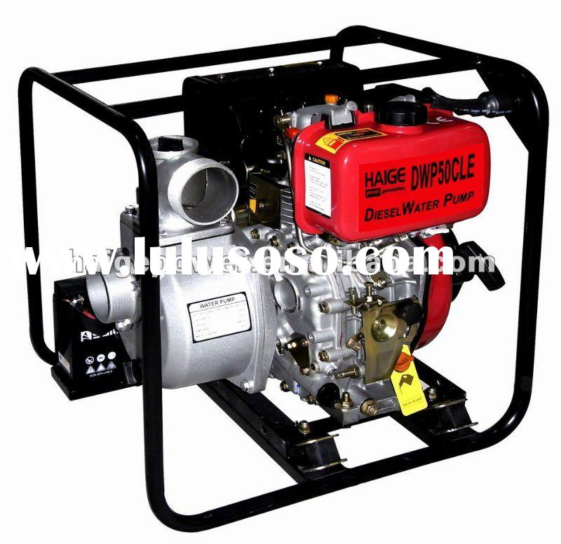 Electric start diesel water pump