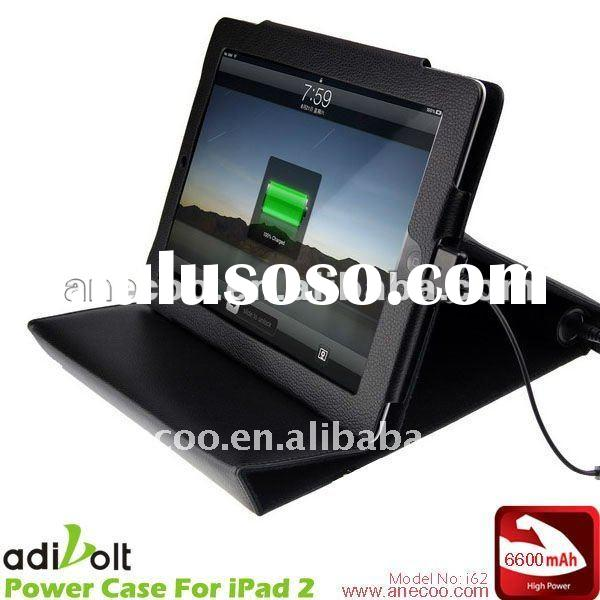 Fashion Leather Power Case Portalbe External Battery Charger for iPad 2