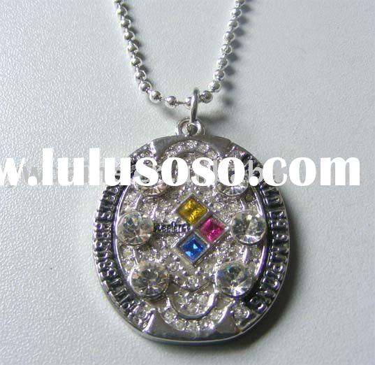 Fashion NFL Pitsburgh Steelers 2009 Silver Plated Alloy Pendant Necklace CR-13301,Sports Jewelry