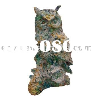Garden Animal Statue, Cast Iron Bird (Owl), Garden Ornament/Decoration, Metal Crafts