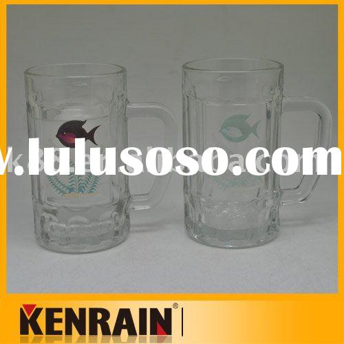 Glass color changing Mug/cool beer mug/Glass beer mug