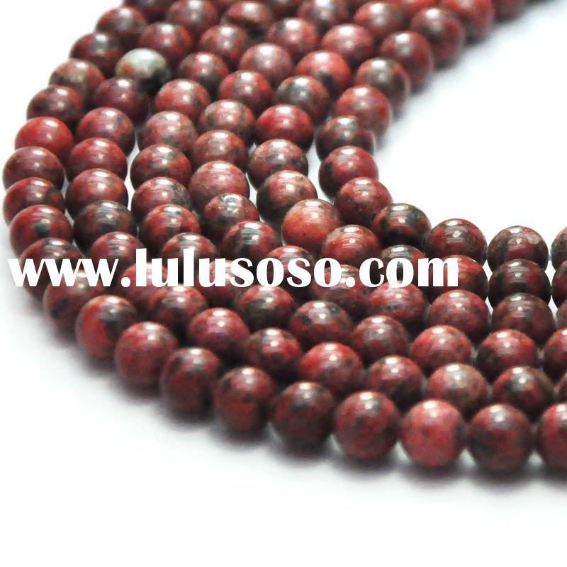 HOT natural loose semi precious stone round bead strands rainbow jasper