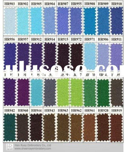 HR Fabric color chart