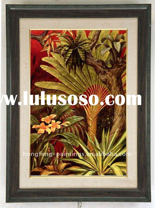 Hand made decorative canvas oil painting with frame--AM110826