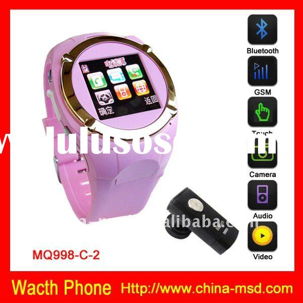 Hot sale touch screen cell phone watch support bluetooth headset