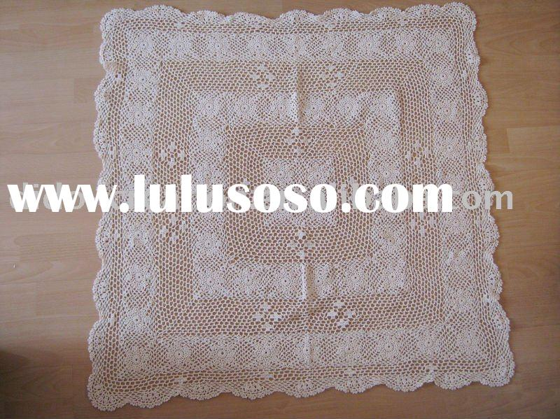 KT04007 Handmade Crochet Table cloth Tablecloth Cotton