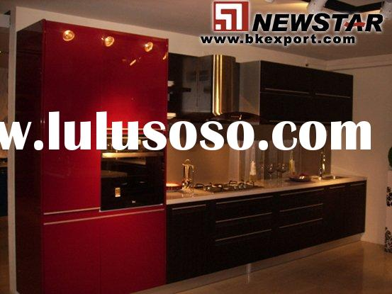 Kitchen Cabinet ( Lacquer Kitchen Cabinetry with Bake Painting Finish)