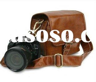 Korean Brown Vintage DSLR Digital Camera Bag For Digital Camera
