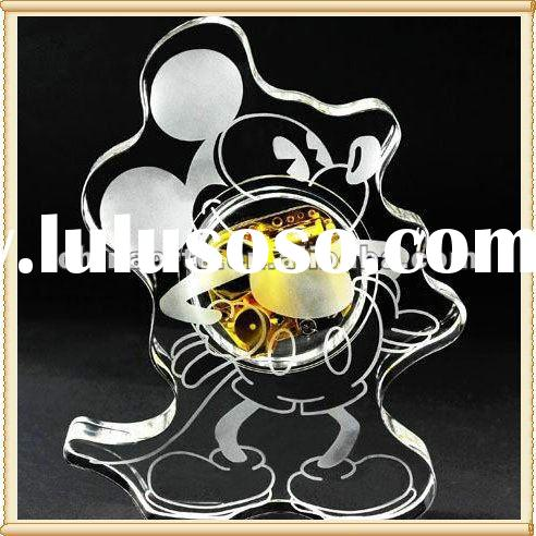 Lovely Mickey Mouse Crystal Music Box for Birthday Gifts