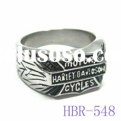 Mens Personalized Anniversary Rings Stainless Steel Hammered Band Ring