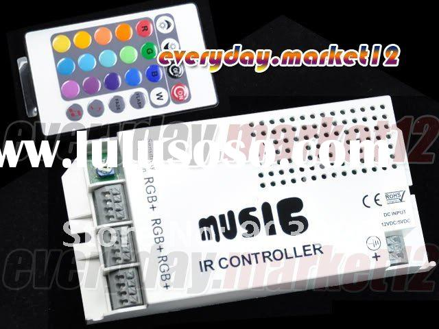 New RGB Wireless Music Sound 12VDC 5A White IR Remote Control For Led Lighting With CE and ROHS