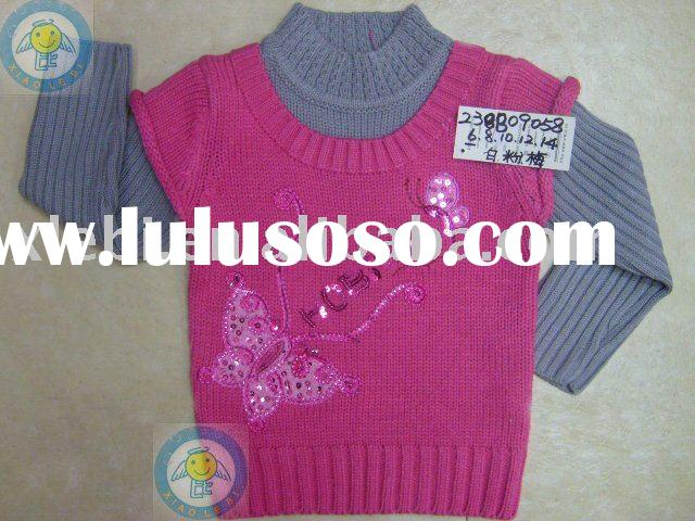 New collection exquisite handwork children garment,child wear,kids clothing for girl's pullo