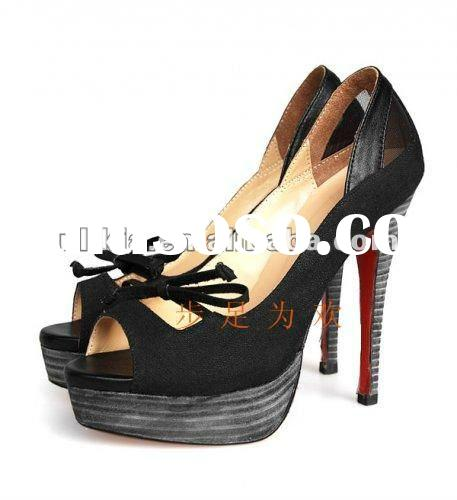 New style 2012 spring summer latest design wholesale ladies shoes