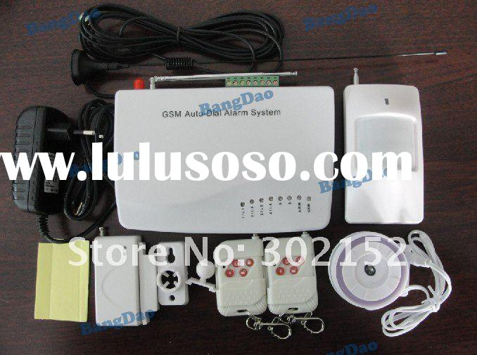 New wireless and wired GSM home alarm system with Signal enhance antenna
