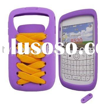 Novel Sporty Shoes Lace Silicone Case Cover for BlackBerry Curve 8520